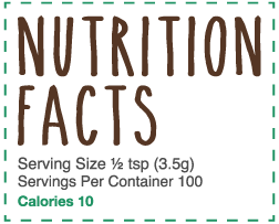 Nutrition Facts Lil 01